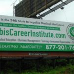 Four billboards have gone up in Philly to advertise for the Cannabis Career Institute.
