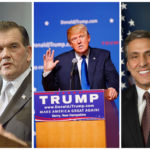 From left to right: Sen. Pat Toomey, former Gov. Tom Ridge, presidential nominee Donald Trump, Rep. Lou Barletta, Rep. Tom Marino
