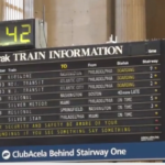 Amtrak departures board