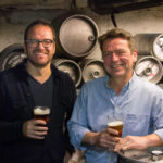 William Reed and Paul Kimport in the keg storage room at Standard Tap