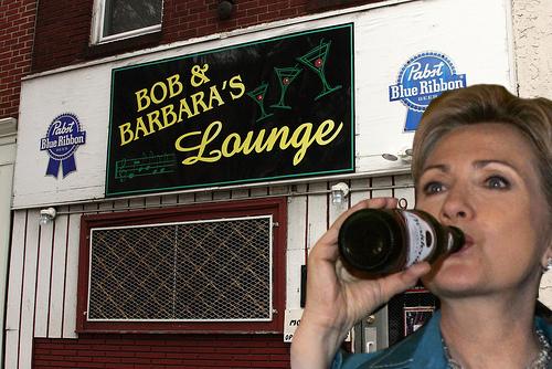 hillary at bob and barbaras