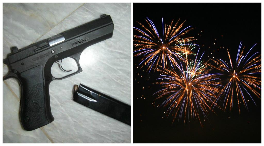 guns fireworks
