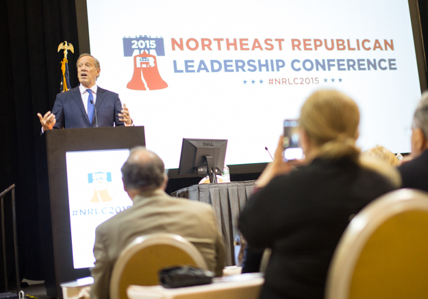 Former New York governor and current 2016 presidential candidate George Pataki at the Northeast Republican Leadership Conference in Philadelphia, June 18, 2015.