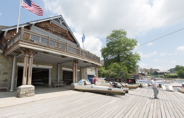 The dock of the University Barge Club.