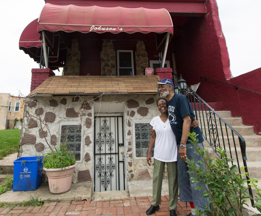 The Johnsons and their house in southwest Philadelphia.