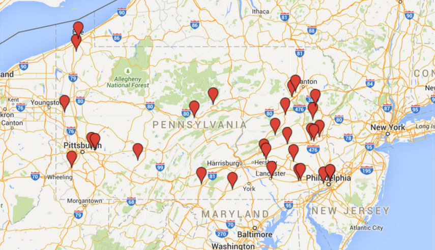 tom wolf tour map