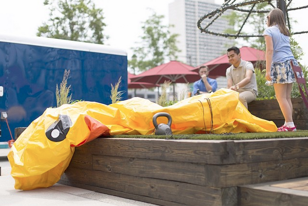 Un-inflated duck photo by Bobby Chen for Billy Penn's Instagram