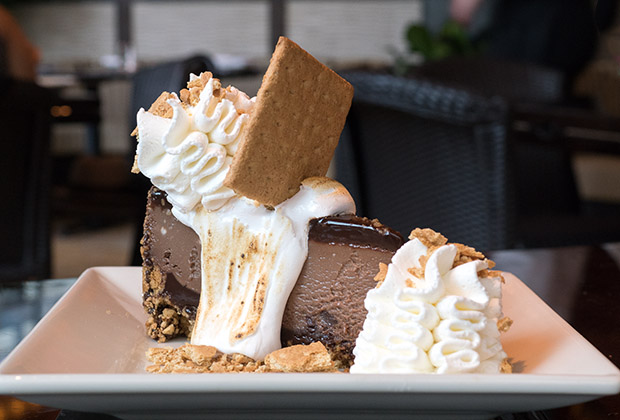 S'mores is just one of many flavors of dessert at Cheesecake Factory