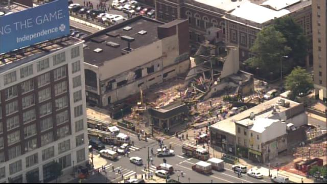 The Market Street collapse that took place in 2013.