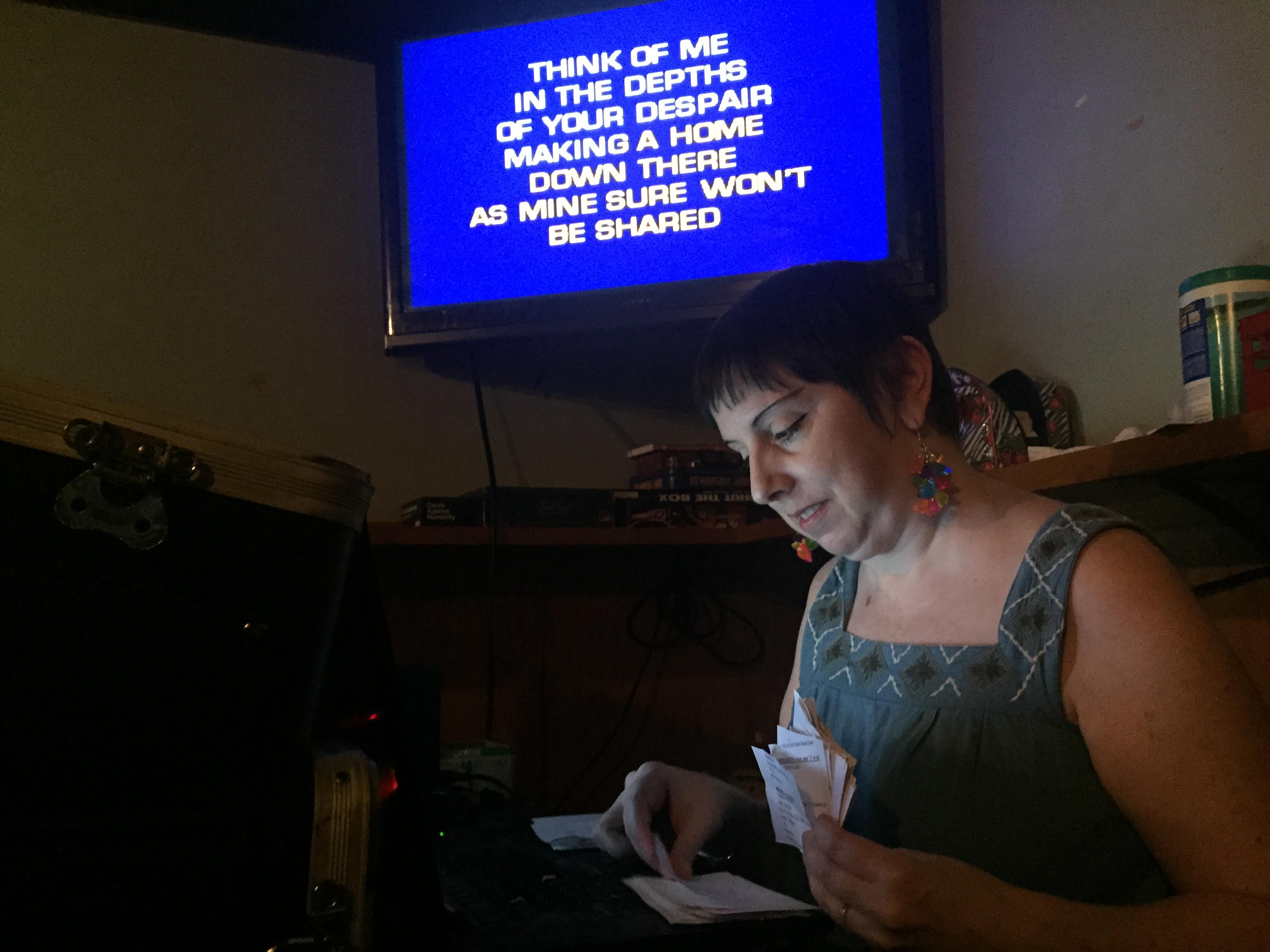 Sara Sherr hosts karaoke at bars around Philadelphia.