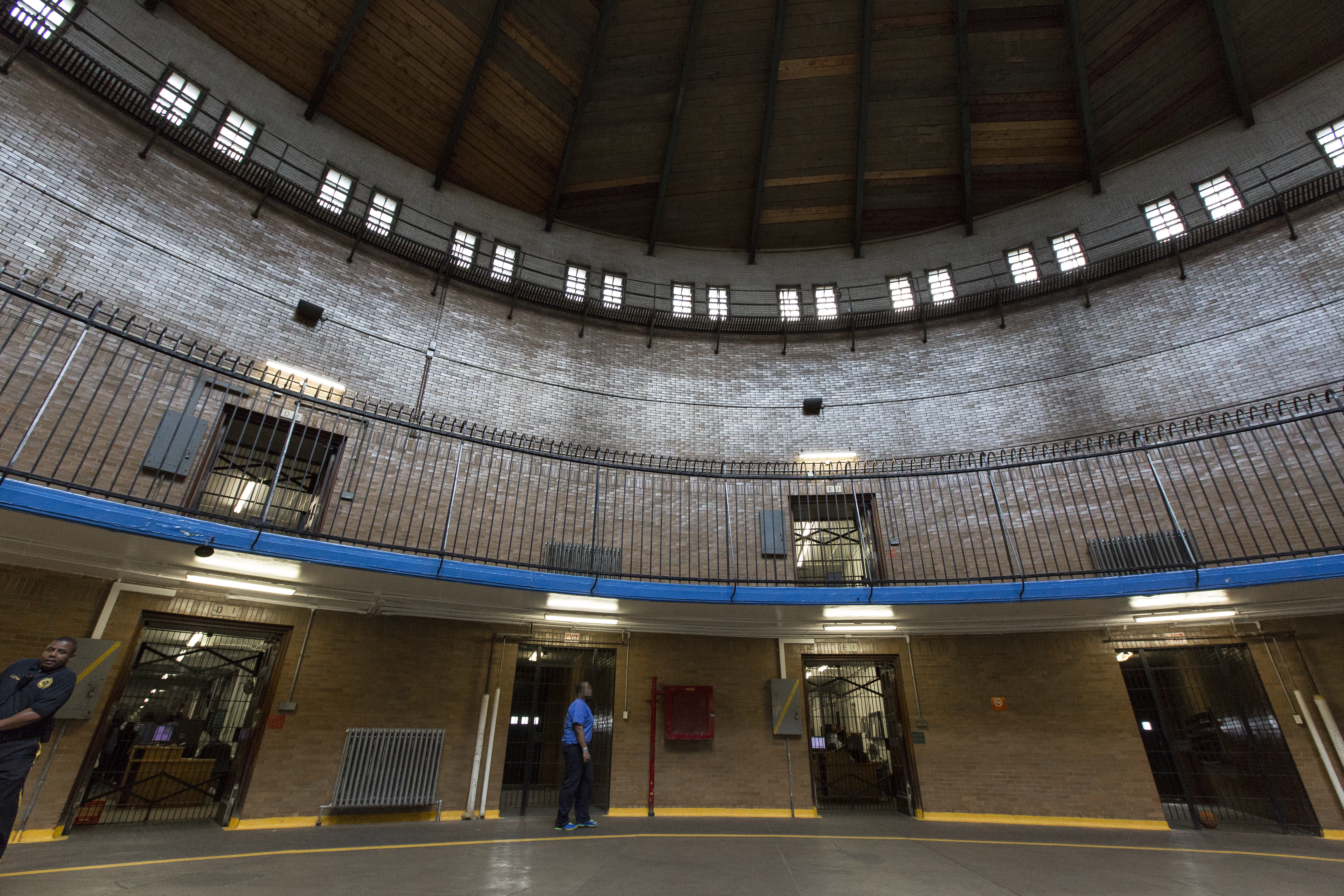 One of two main rotundas in the House of Corrections, which was shut down in 2018