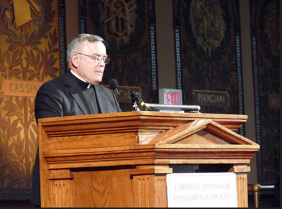 Archbishop Charles Chaput speaks at the 2012 March for Life in Washington D.C.