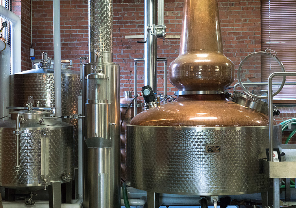 On American Street, Rob Cassell's distilling takes place in a still he designed himself.