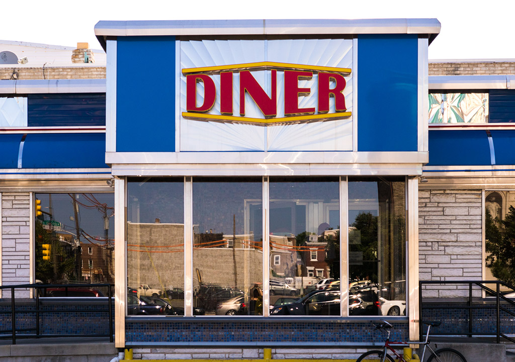 The Broad Street Diner facade looks iconic, but was actually a very recent addition