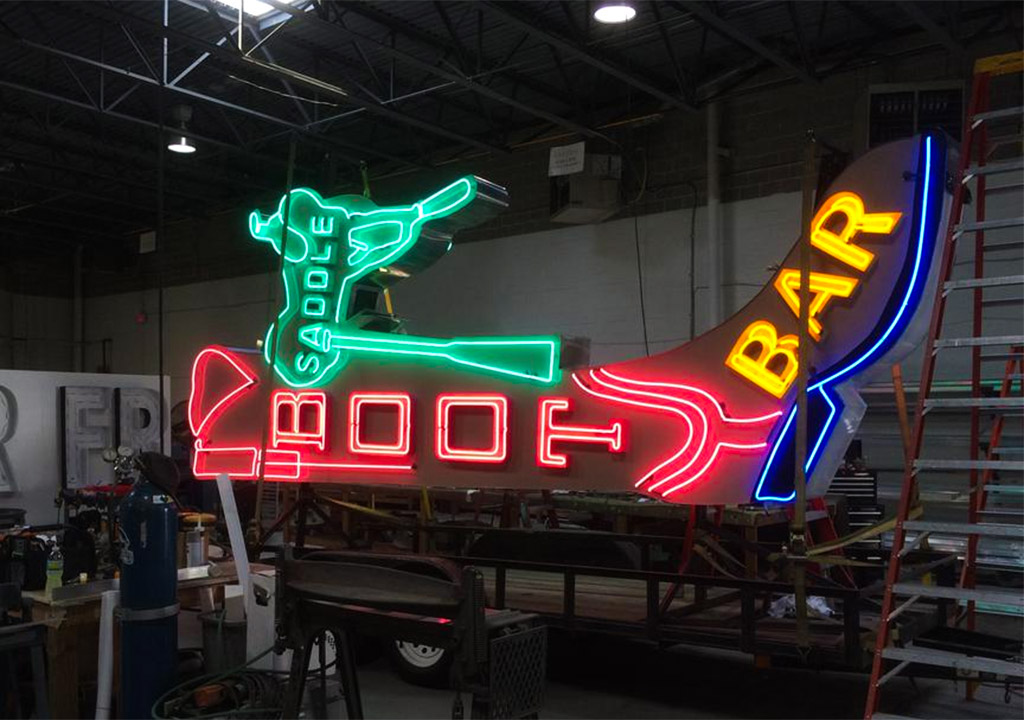 Boot & Saddle sign