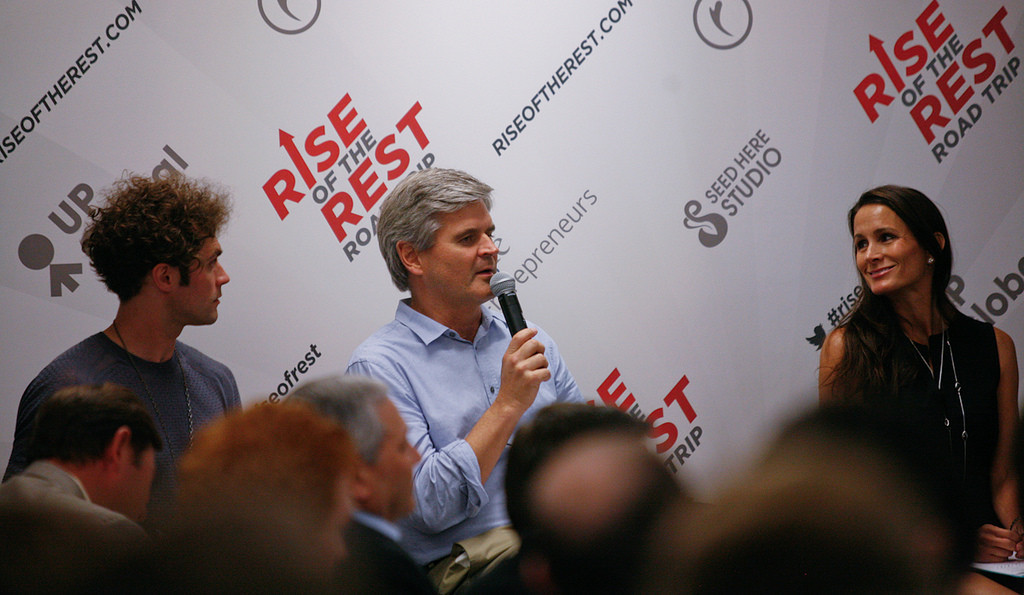 Steve Case speaks at a Rise of the Rest event in Nashville in June 2014.