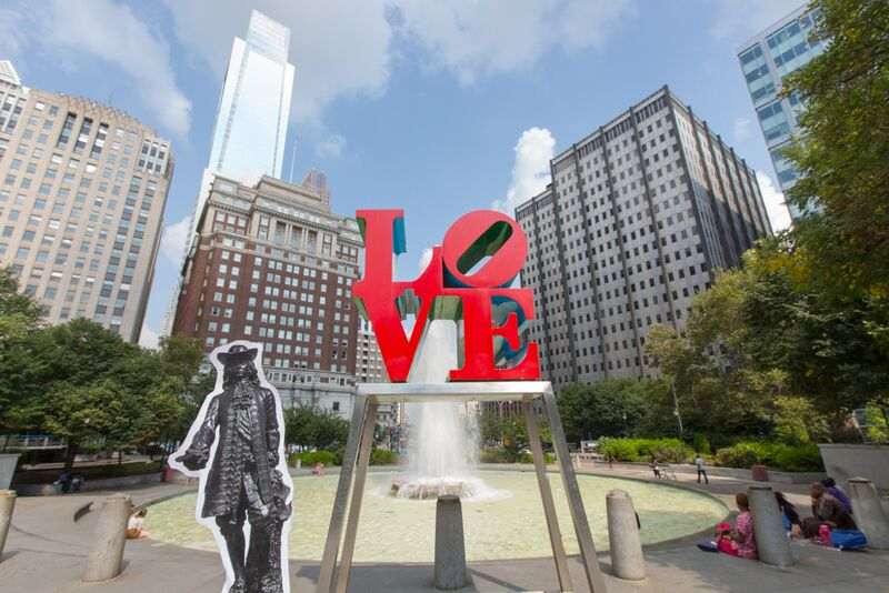 Flat Billy visited LOVE Park last year. It's up to you where he goes next.