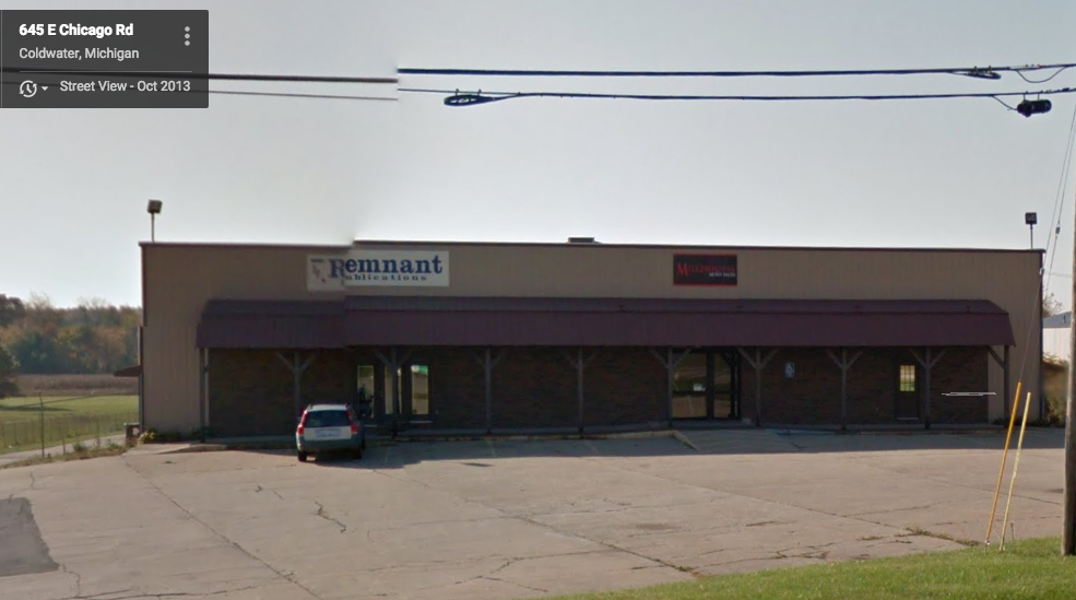Remnant Publications' office in Coldwater, Michigan.