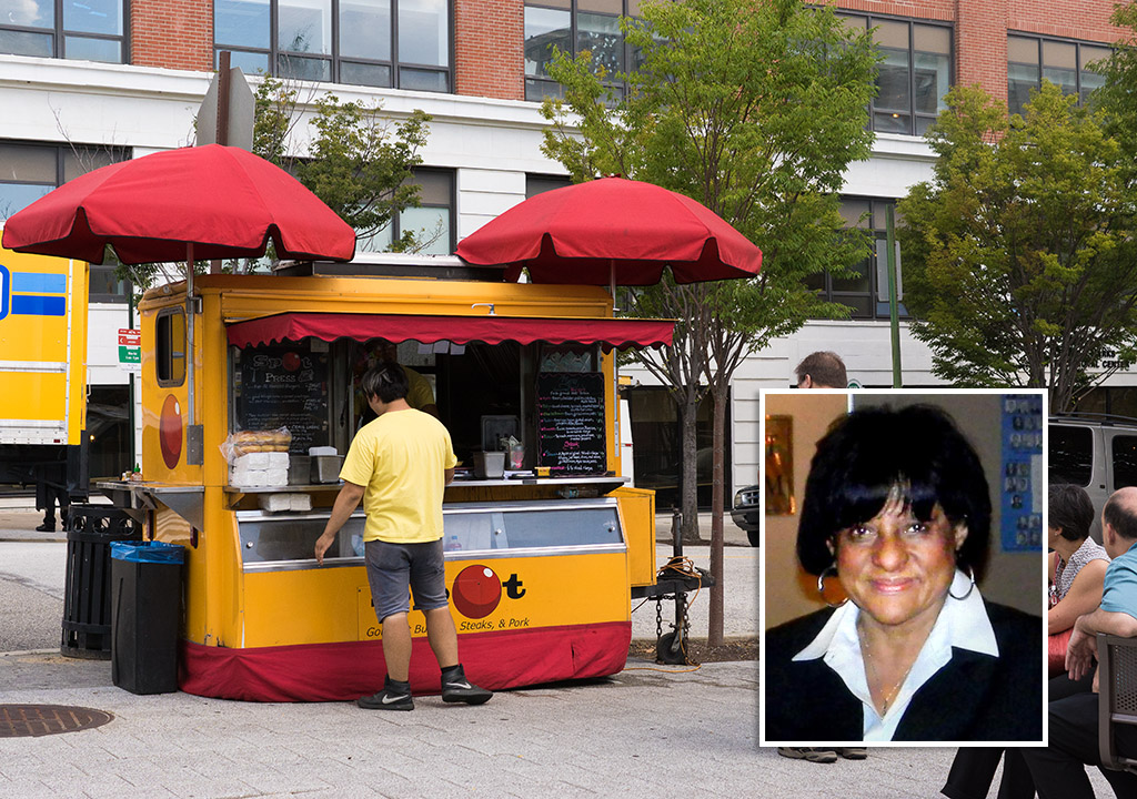 Spot Burgers vending outside Drexel at 33rd and Arch (Inset: Councilwoman Jannie Blackwell)