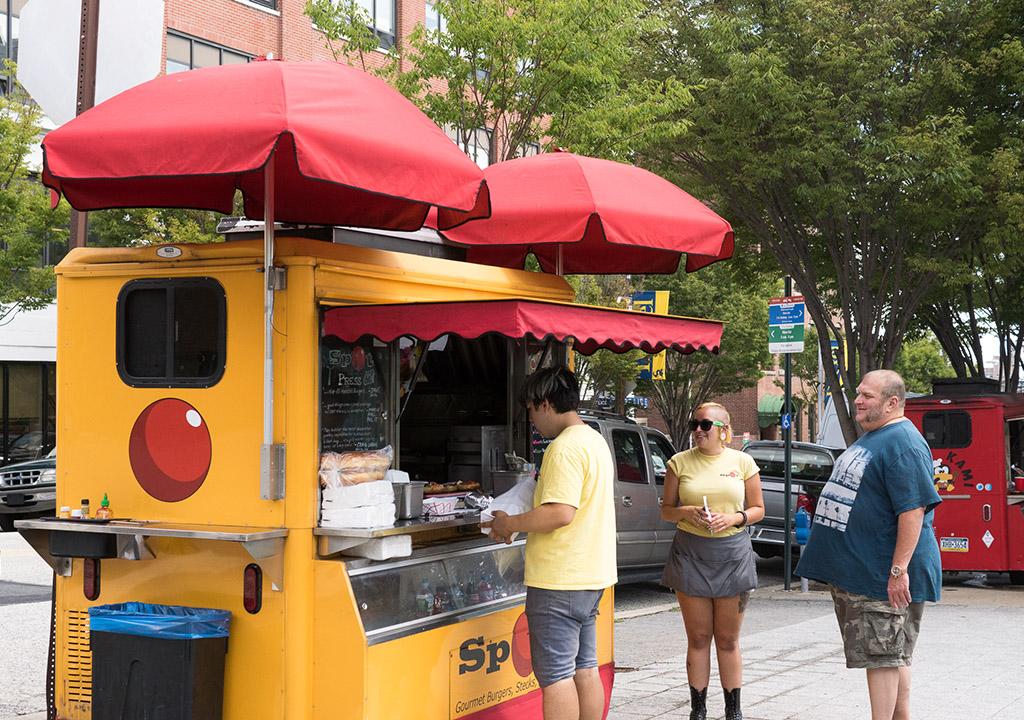 Spot Burgers vending outside Drexel