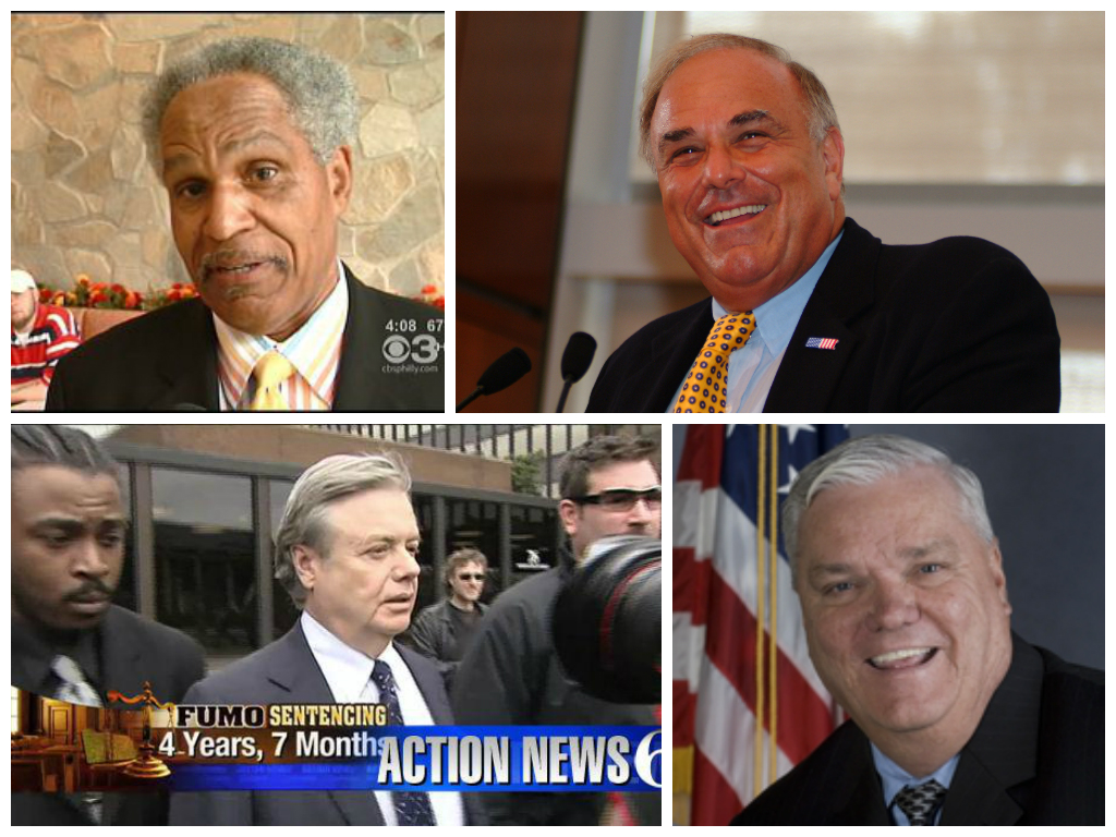 Top: Former Mayors John Street and Ed Rendell. Bottom: Former Sen. Vince Fumo and current Rep. William Keller.