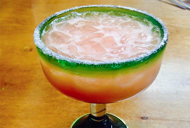 Guava margarita at Blue Corn