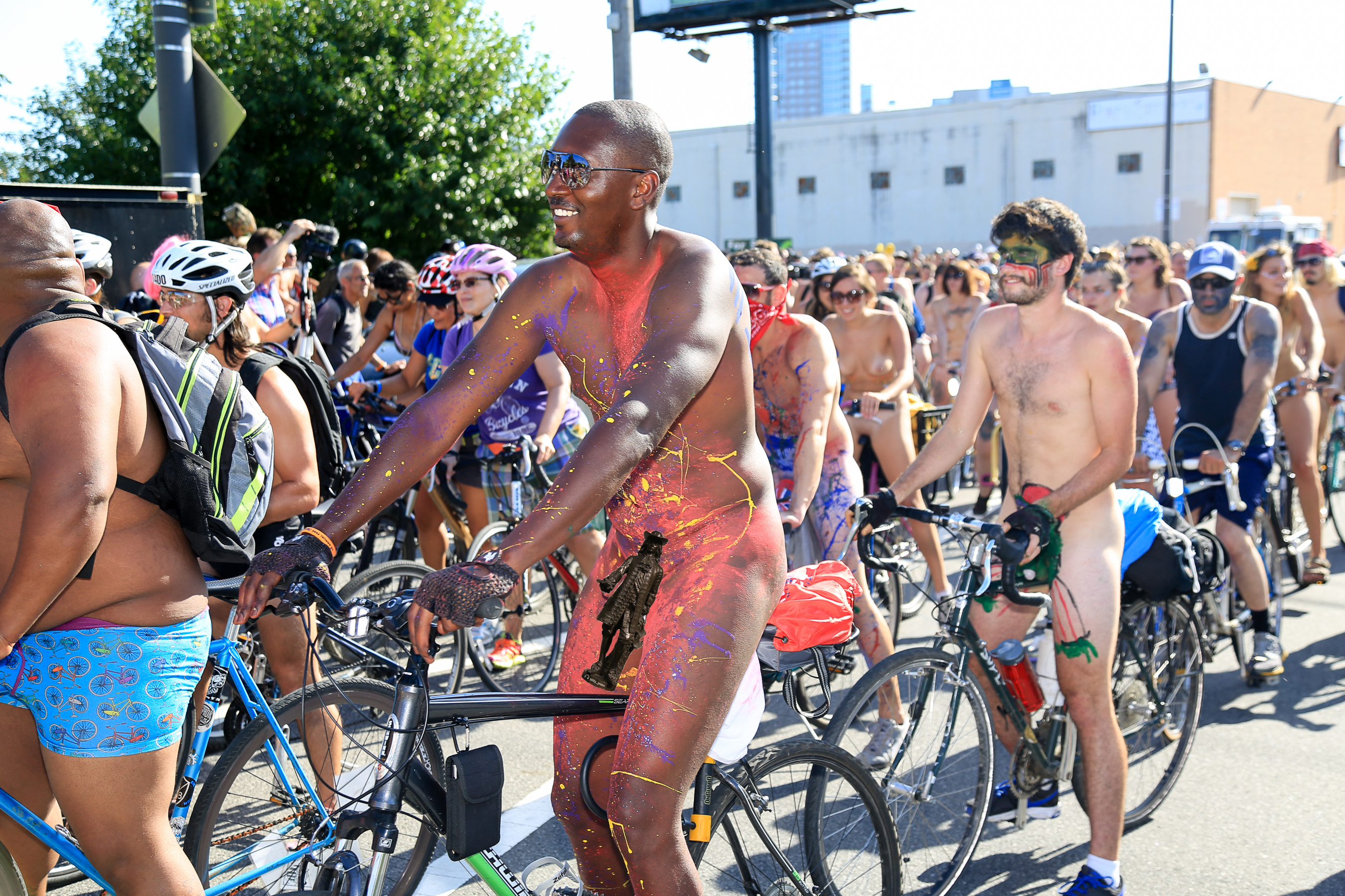 Photo from a past Philly Naked Bike Ride. Sorry to Flat Billy who made a Photoshop appearance. That might be against his religion.