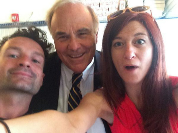 Rendell with Federal Donuts' Brien Murphy and Felicia D'Ambrosio