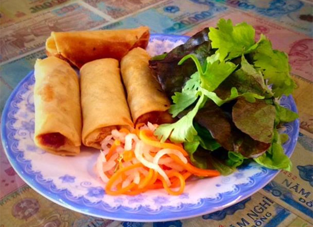 Crispy spring rolls at Same Same