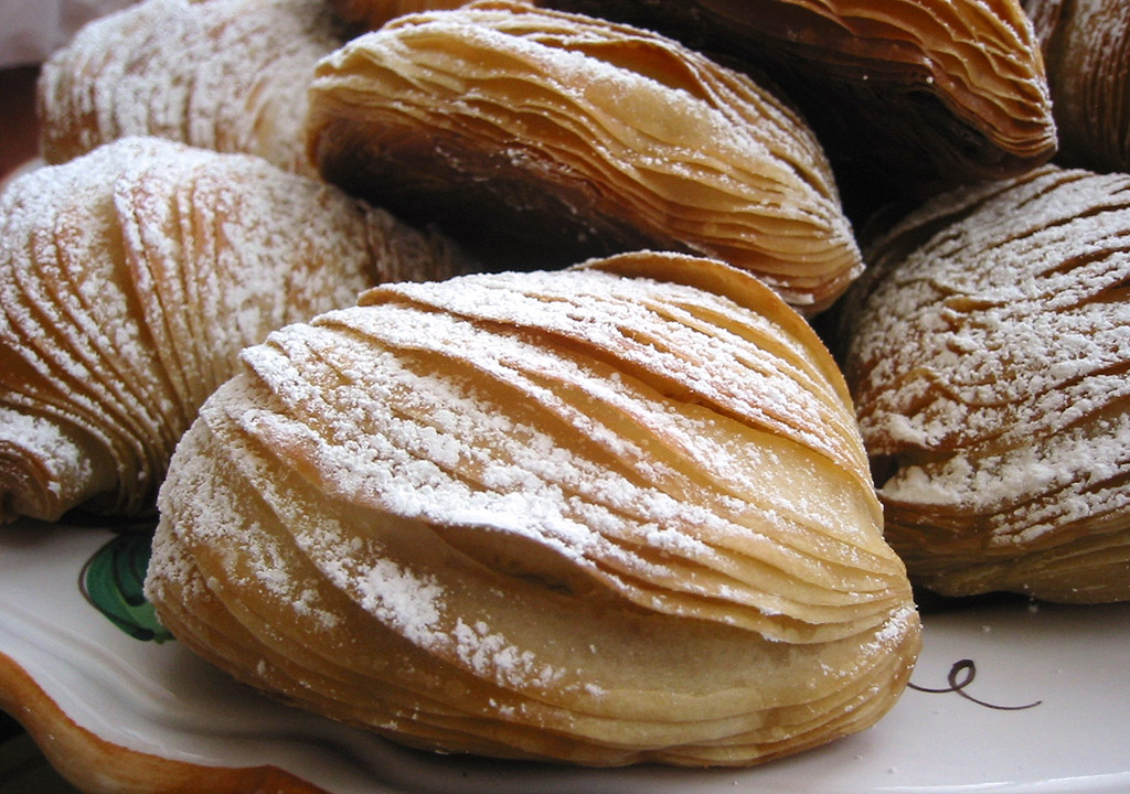 Sfogliatelle are flaky Italian pastries