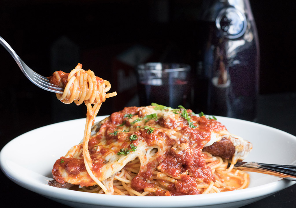 Classic chicken parm at Triangle Tavern