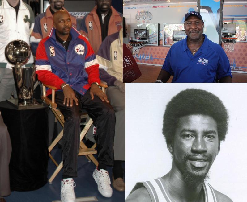 Clockwise from left: Moses Malone, Darryl Dawkins and Caldwell Jones.