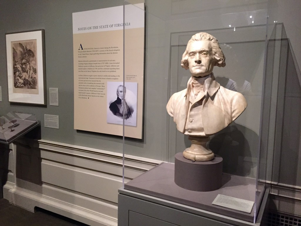 The current collection at Philosophical Hall aims to show how Jefferson used science in establishing the country.