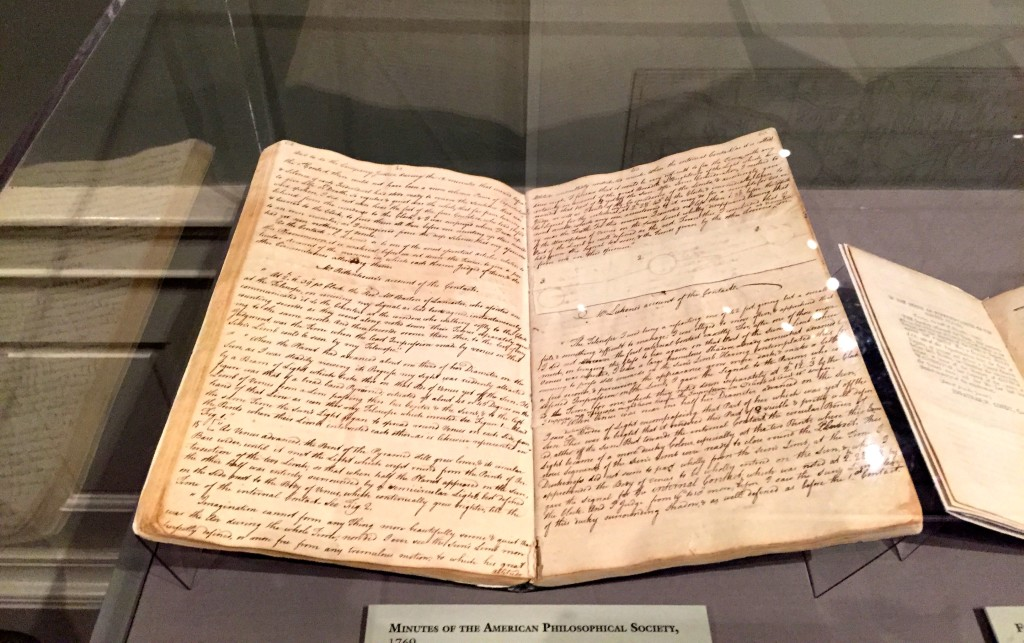 APS meeting minutes taken by David Rittenhouse.