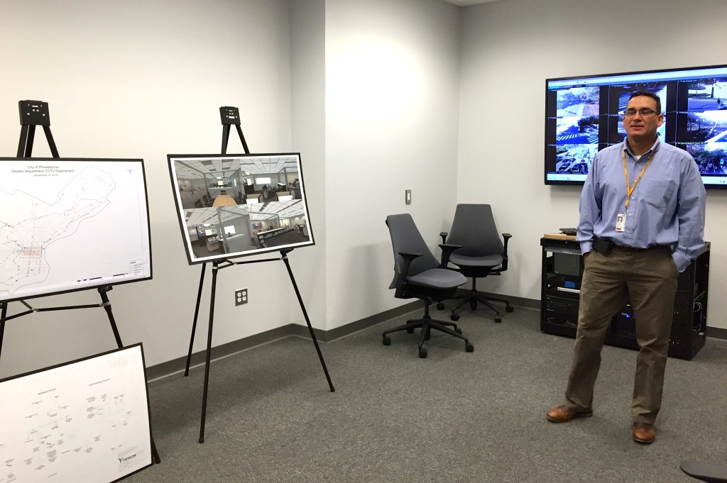 Head engineer Richard Montanez stands in the new city Traffic Control Center.
