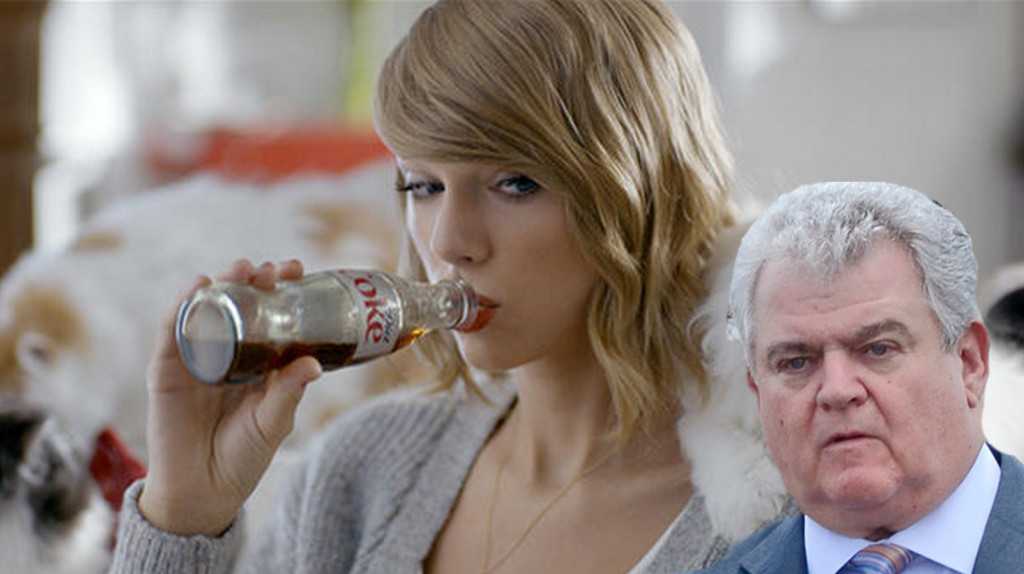 Bob Brady wanting T-Swift's Coke.