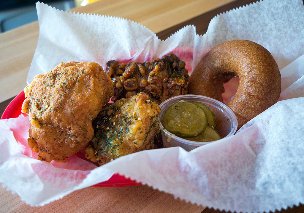 Fried chicken at Federal Donuts