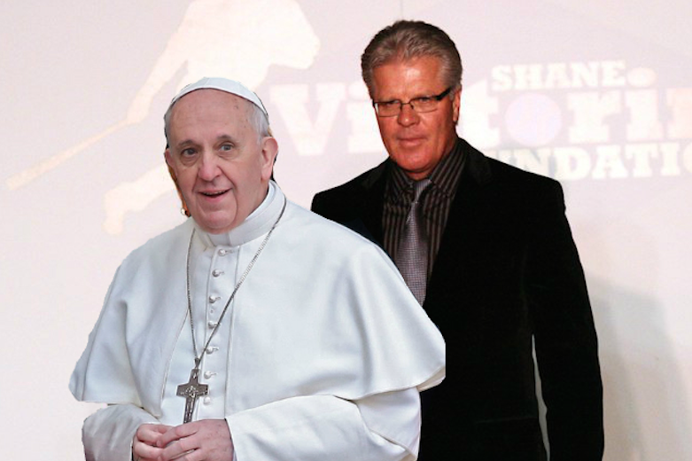 Pope Francis and Pete Mackanin.
