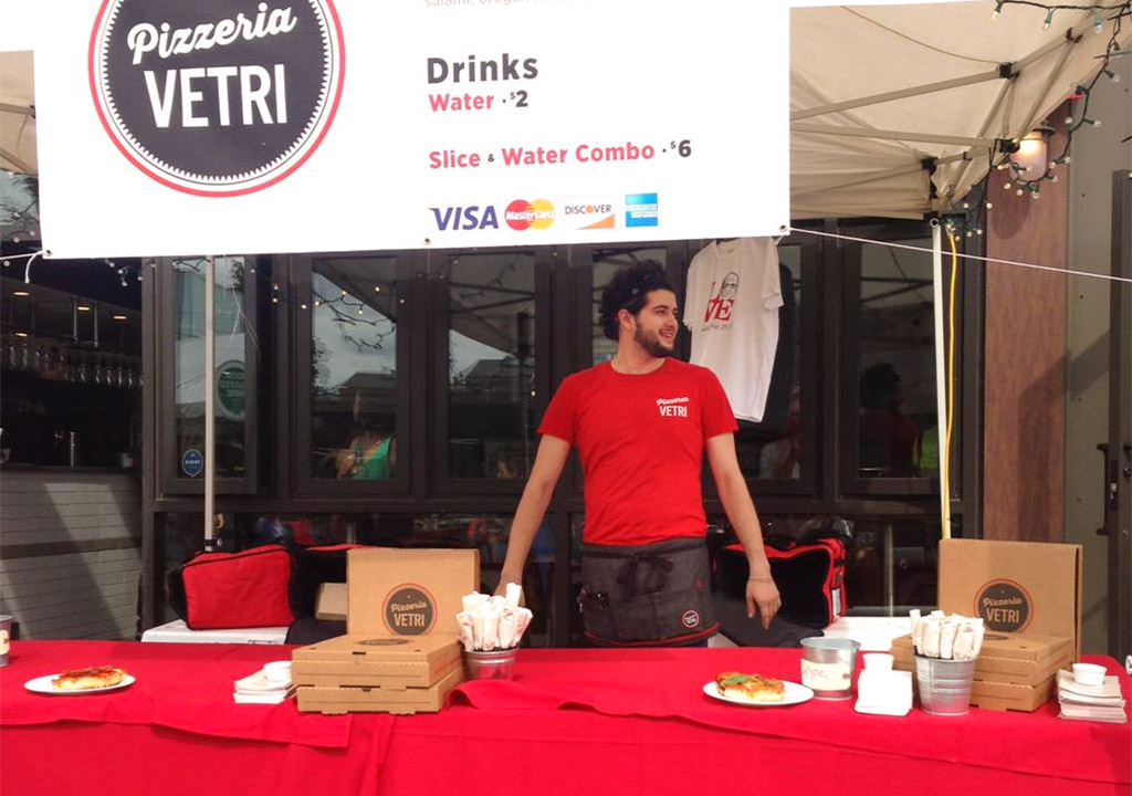 "Sales at Pizzeria Vetri on Callowhill were ""OK"" thanks to a table set up outside"