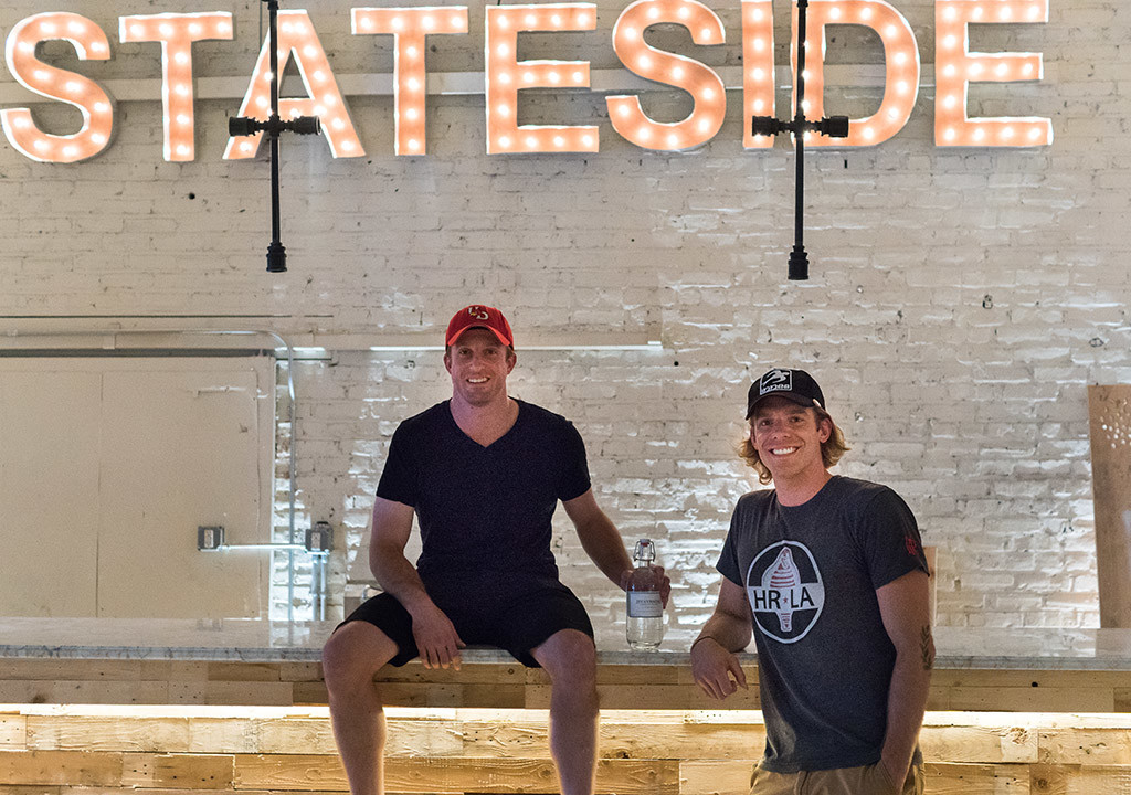 Federal Distilling's Bryan and Matt Quigley in their future bar/tasting room