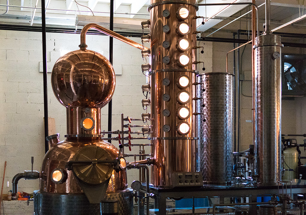 The stillworks on which Stateside vodka is made