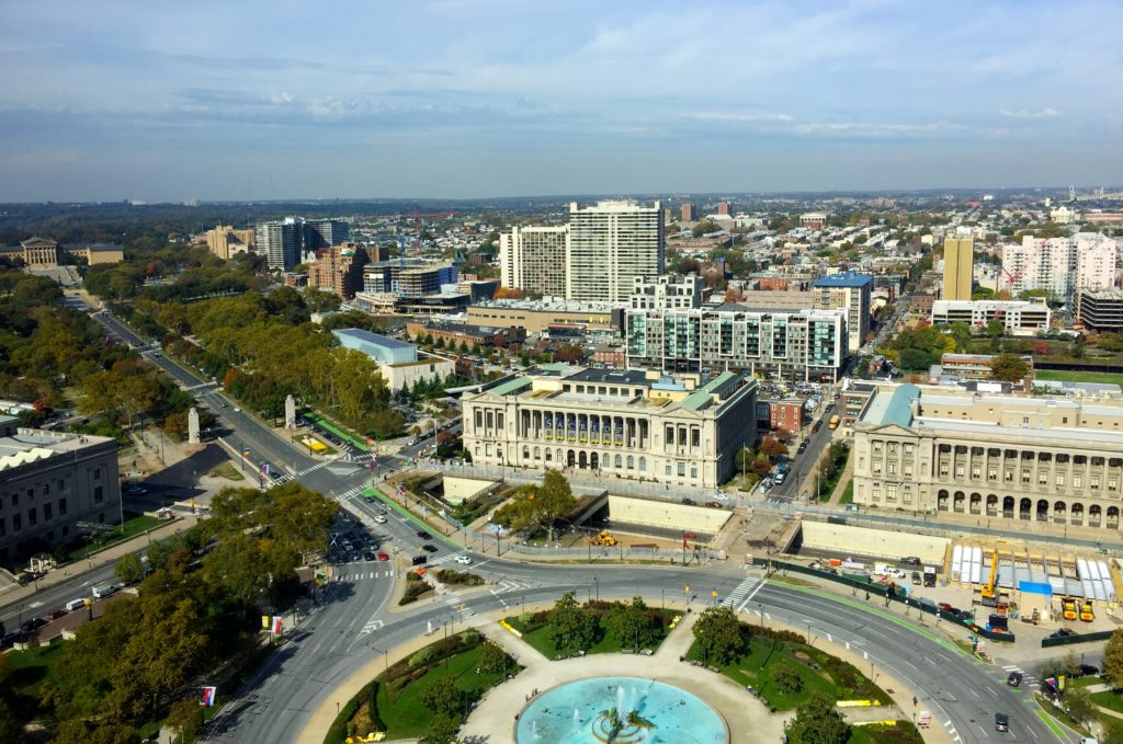 The view from the top of One Logan Square.