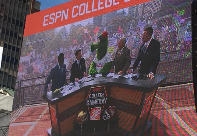 The Phillie Phanatic was the guest picker on ESPN College GameDay.