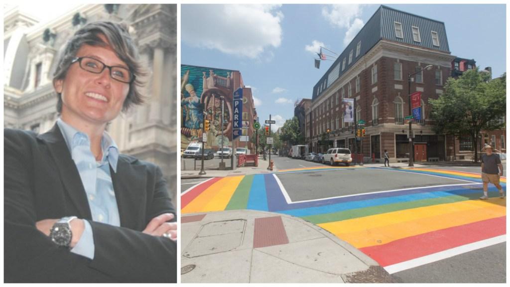 Left: Nellie Fitzpatrick Right: Crosswalks in the Gayborhood