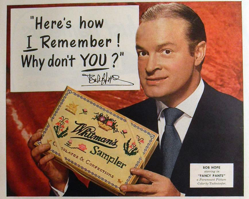 Whitman's Sampler gained even more popularity through celebrity endorsements