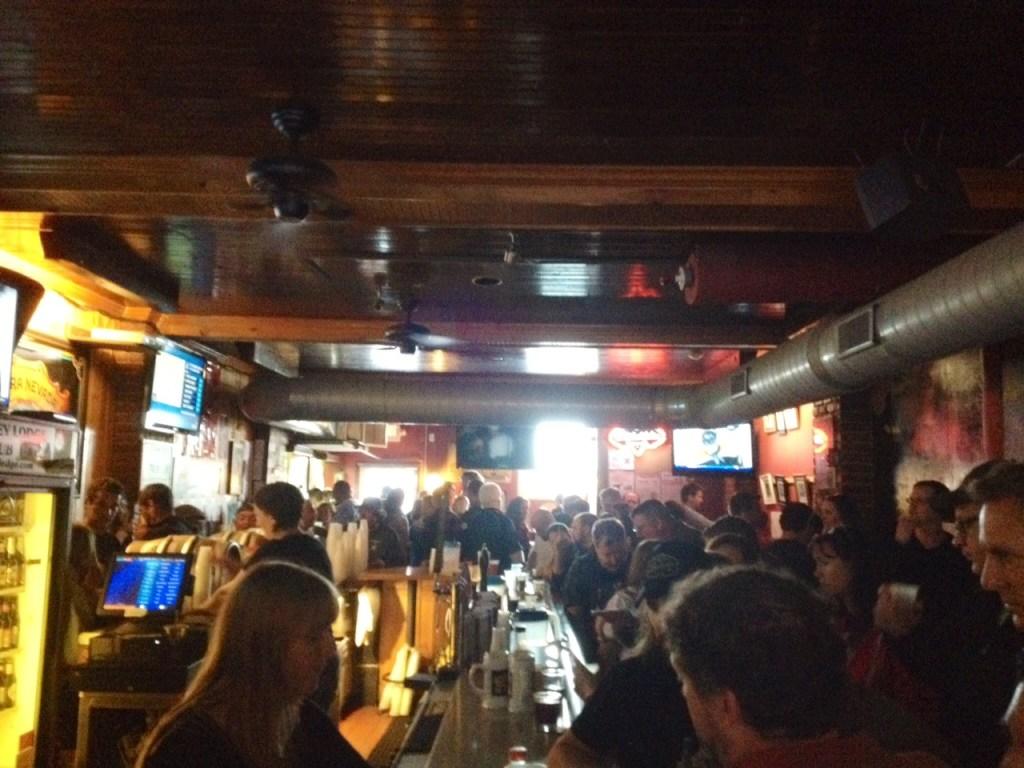Firkin bar view