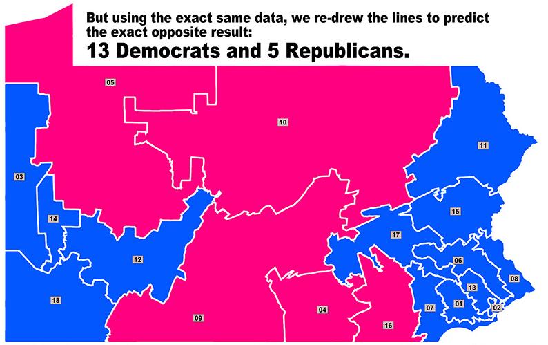 Sen. Daylin Leach's preferred district lines.