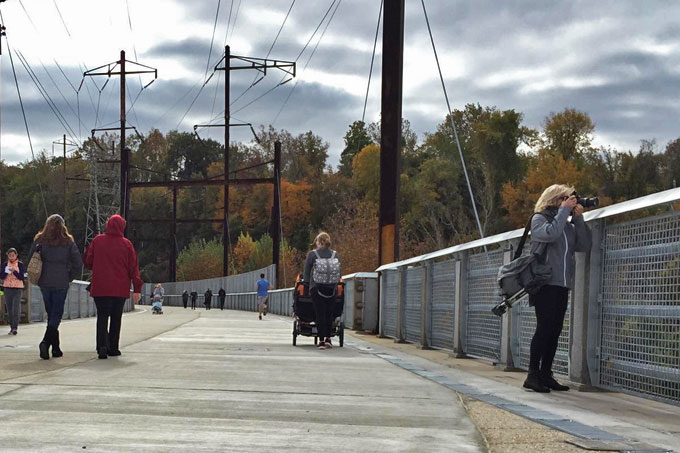 The Manayunk Bridge has re-opened as a pedestrian and bike trail after being closed for decades.
