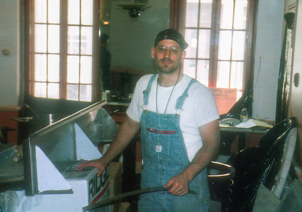 Marc Vetri working on renovations before opening Vetri