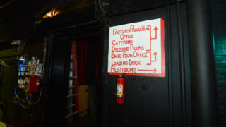 Backstage at The Electric Factory, a 40-year-old live music venue in Philly.